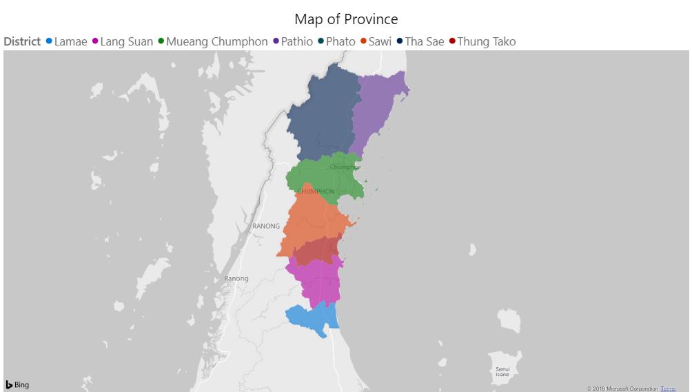 Map of Chumphon